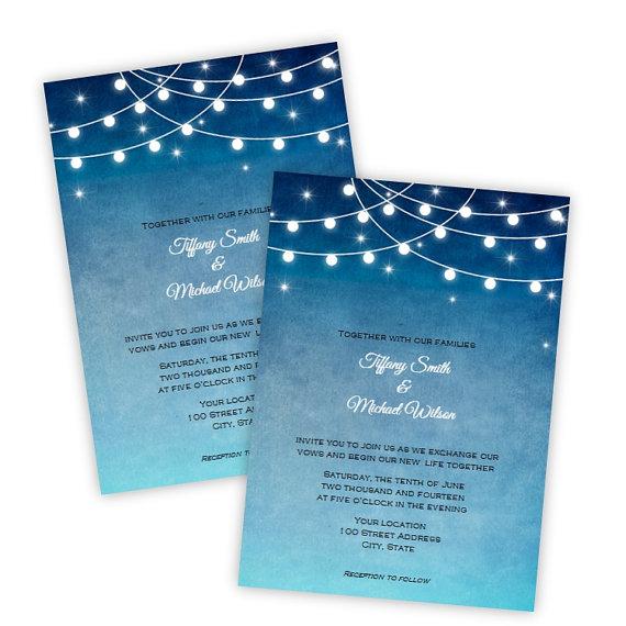 wedding invitation lights at night diy printable template