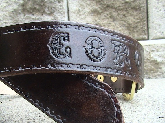 Mariage - C U S T O M Leather Belts - 1.5 inches wide W Buckle