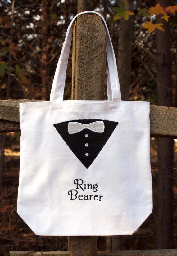 Свадьба - Ring Bearer Tote Bag