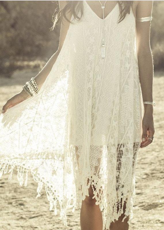 Wedding - Custom BoHo Wedding Organic Dress - Palm Desert - Palm Springs- For Vivian