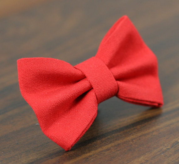 Свадьба - Cat or Dog Bow Tie - Simply Red