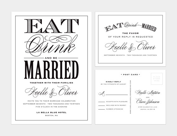 Mariage - Printed - Be Married Wedding Invitation & RSVP