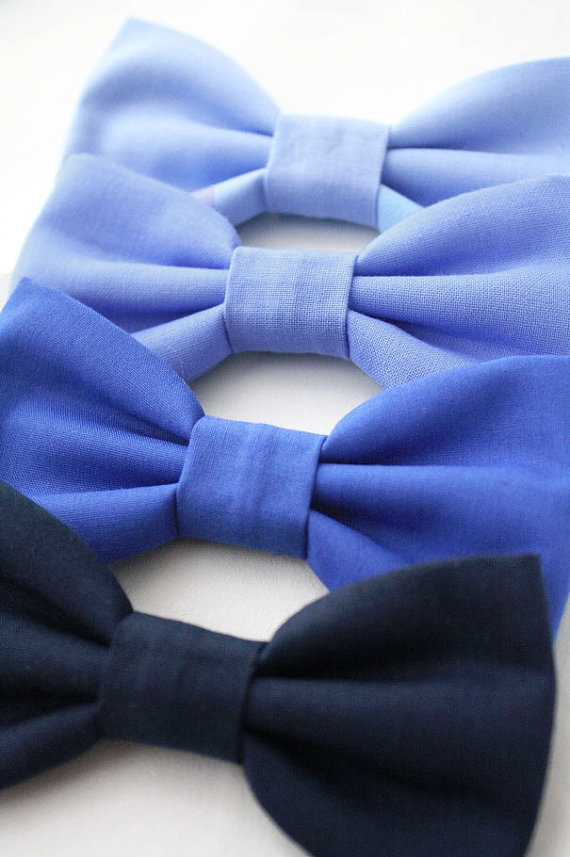Mariage - Navy Dog Bow Tie Blue Cat Bow Tie Periwinkle Dog Bowtie Wedding Formal Removable