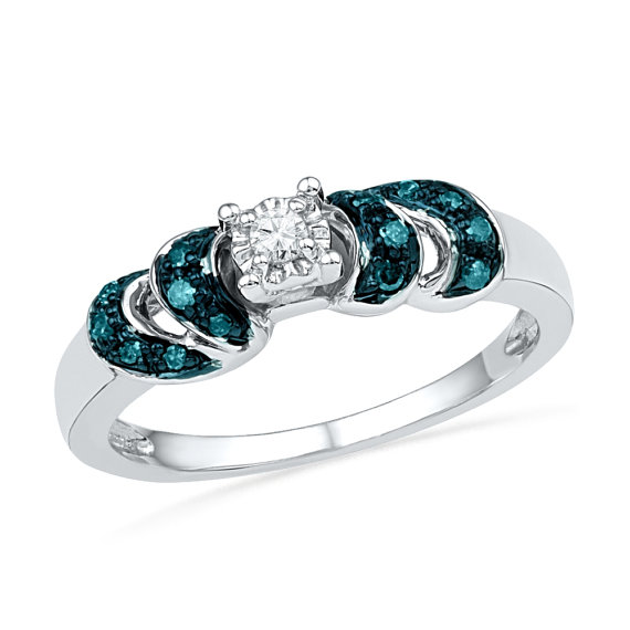 rings cut ring accent blue white aquamarine emerald engagement pid diamond gemstone and gold