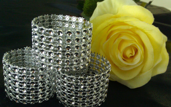 """Mariage - Beautiful napkin rings add that """"wow factor"""" and elegance without breaking the bank!  200 six row napkin rings"""