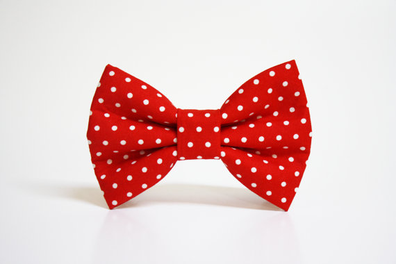 Свадьба - Dog Bow Tie- Polka Dot- More options available- dog collar accessory