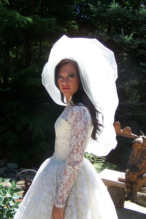 Свадьба - Haute Couture Double Layered Shimmer Bubble Veil-CRBOGGS Signature Veil Original Designer