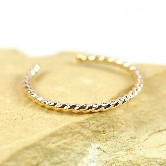Свадьба - Gold Toe Ring, Twist Design, Handmade Jewelry, Adjustable Stacking Ring, 14k Gold fill Ring, FREE US SHIPPING, Kristin Noel Designs