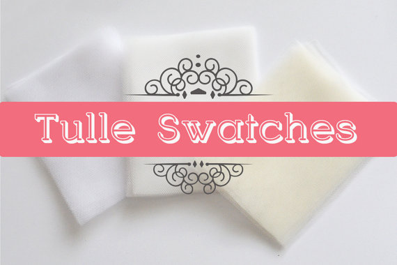 Mariage - Tulle swatches, Soft Tulle samples for wedding veils in white, light ivory and ivory to match with the colour of your wedding dress