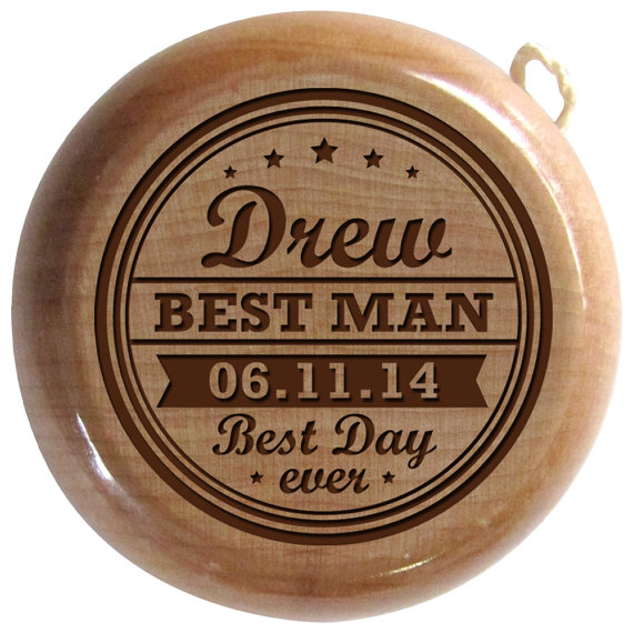 Hochzeit - Personalized Groomsmen Gift,Custom Ring Bearer gift, Bridal party gift personalized Junior Groomsmen yoyo gift Best Man gift,Groomsman gift,