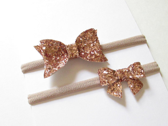 88bd7f09cfc03 Rose Gold Glitter Bow