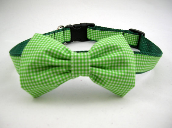 Свадьба - Boy Dog Collar with Bow Tie