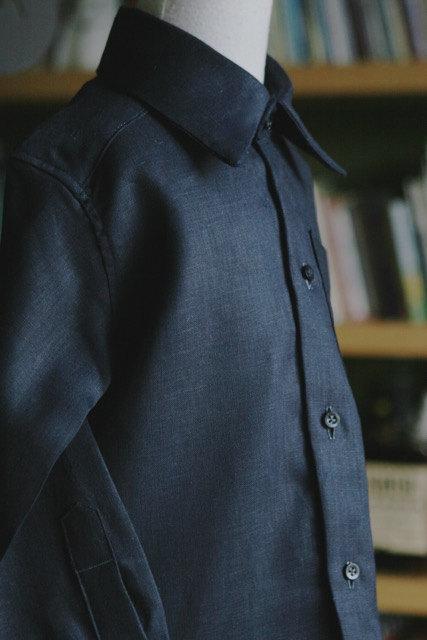 Свадьба - Italian linen long sleeve shirt