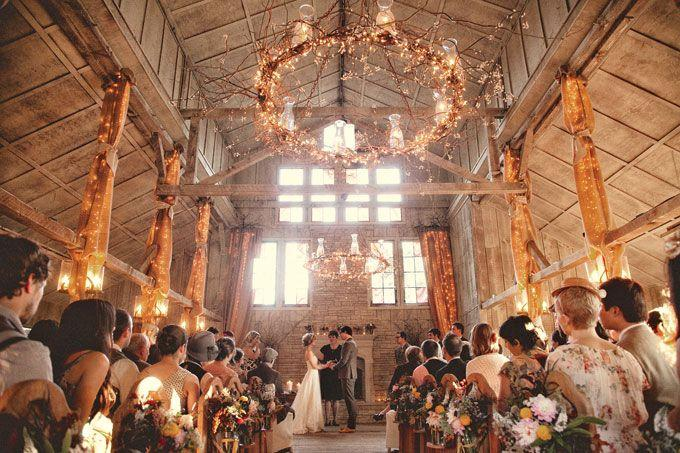 Свадьба - Ceremony Decor At A Rustic Wedding