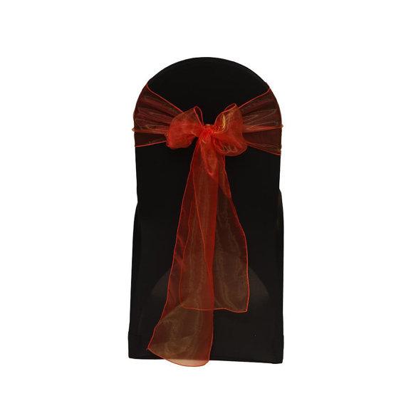 Mariage - Orange Organza Chair Sash