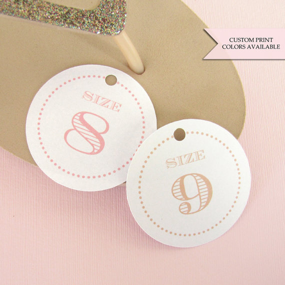cceb09fd1be9d6 Flip Flop Tags (30) - Flip Flop Size Tags - Wedding Flip Flop Tags ...