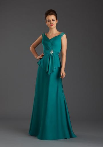 Boda - Buy Australia 2015 Jade A-line V-neck Neckline Beaded Pleated Elastic Satin Floor Length Mother of the Bride Dresses 7427 at AU$190.75 - Dress4Australia.com.au