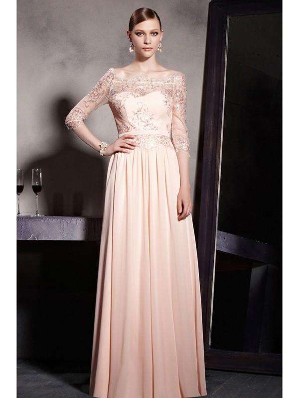 Свадьба - http://www.dylanqueen.co.uk/a-line-princess-1-2-sleeves-chiffon-bateau-floor-length-embroidery-dresses-pon15po109.html