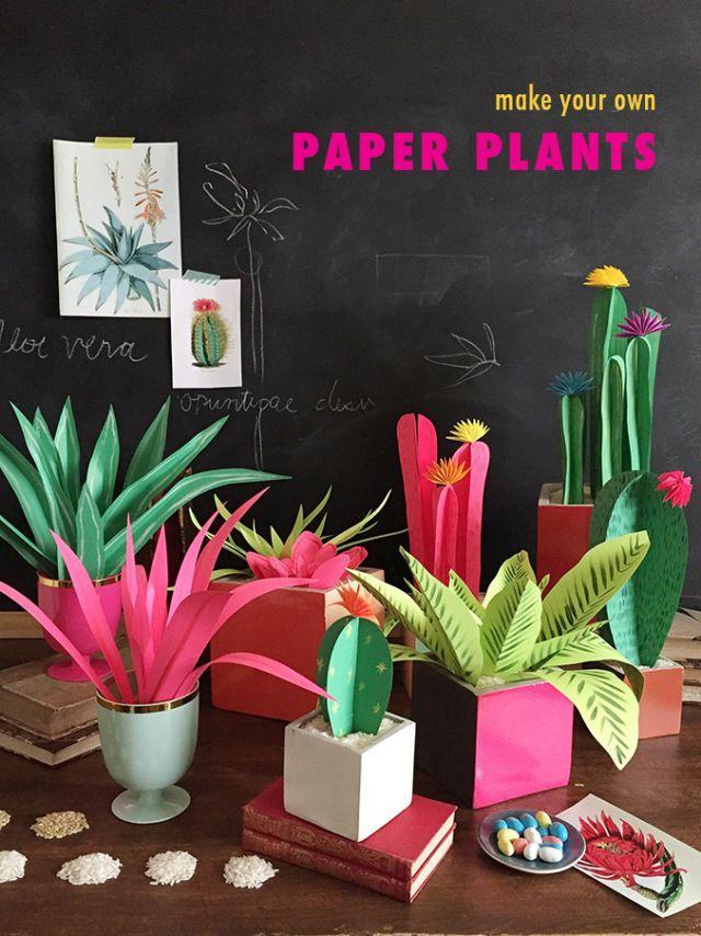 Hochzeit - DIY Paper Plants