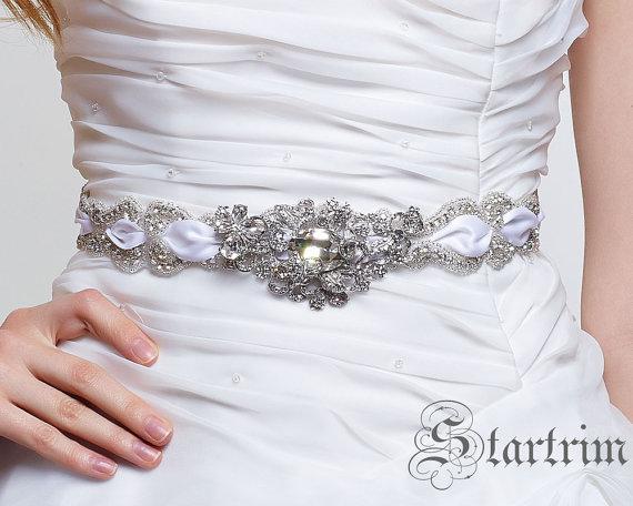 زفاف - SKYLA wedding bridal crystal sash, belt