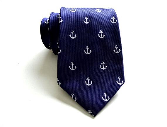 Свадьба - Anchor Tie. Anchor Necktie. Mens Anchor Tie. Anchor Skinny Tie. Anchor Bow Tie. Mens Necktie. Groomsmen Tie. Weddng Tie.