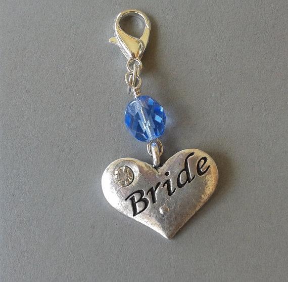 Wedding - Something Blue Bride Bouquet Clip