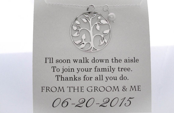 mother of the groom necklace mother of the groom gifts family