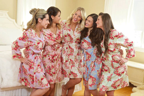 Wedding - Bridesmaid Floral Robes
