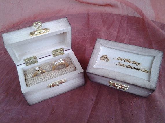Small wooden ring bearer box custom engraved 2342256 weddbook small wooden ring bearer box custom engraved junglespirit Images