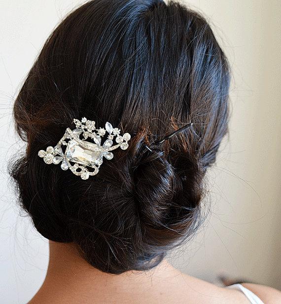 Wedding - wedding hair comb, bridal headpiece, wedding hair accessories, bridal hair comb, wedding jewelry, hair piece, wedding Swarovski Crystal comb