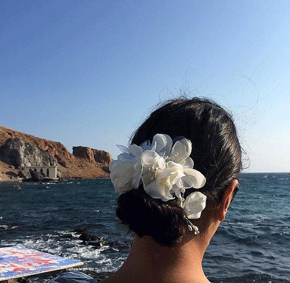Boda - Ivory Hair Comb, Bridal Hair Accessories, Wedding Hair Jewelry, Wedding Head comb, flower Hair Comb, Bridal Hair