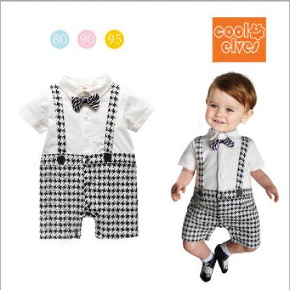 Mariage - Black and White Checks Rompers