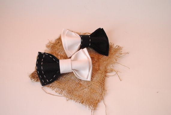 Mariage - Black white bowtie,Handcrafted bow ties,Eco friendly,Bowties,Gift for him,Mens bowtie,Cotton,Funny gift,Back to school,Twins,Contrast,Boys