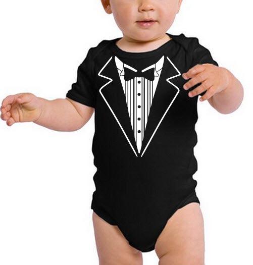 Mariage - Baby Tuxedo, Tuxedo, Wedding shirt, Ring bearer, Ring Bear, Ring Bearer shirt, Ring security, wedding day, baby wedding outfit, baby wedding
