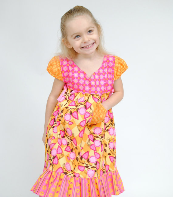 Girl's Peasant Dress, Girls Dresses, Party Dress, Children ...
