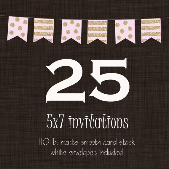 25 Professionally Printed Card Stock Invitations Cards Or