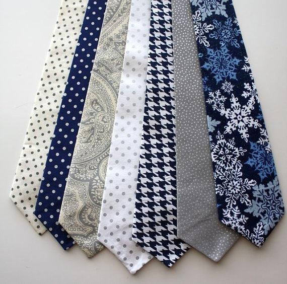 Mariage - Little and Big Guy Necktie Tie - Frosted Wonderland Collection - (Newborn-Adult) - Baby Boy Toddler Teen Man - (Made to Order)