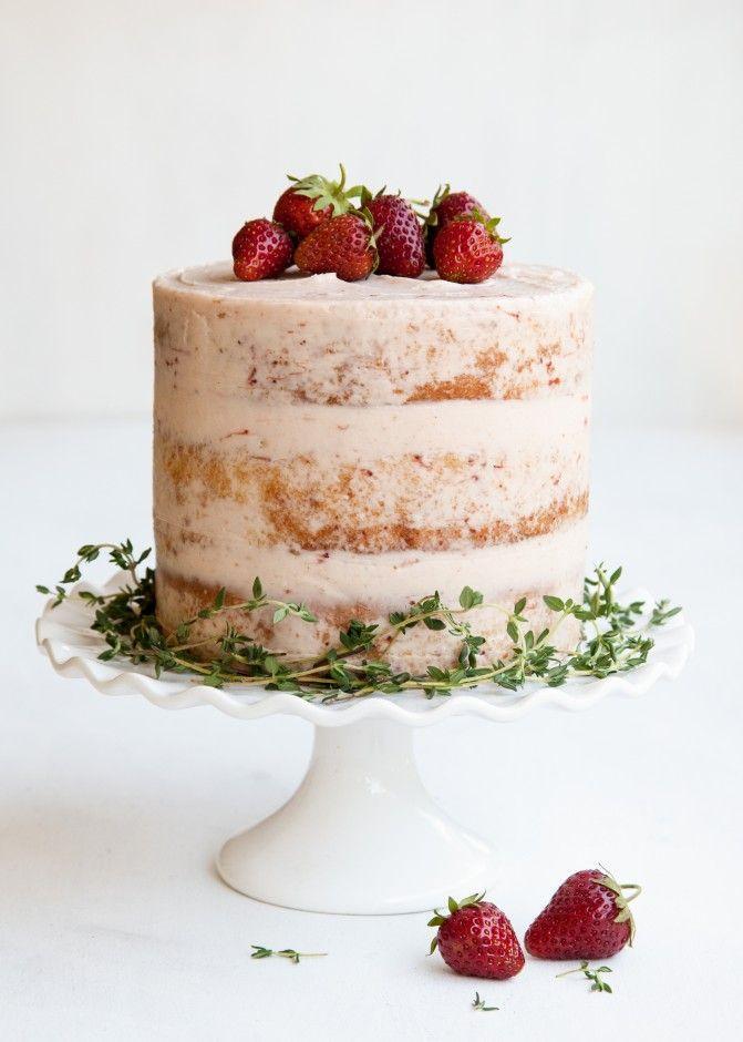 زفاف - Strawberry Thyme Cake