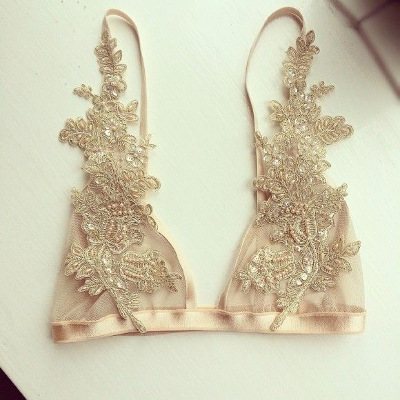 Свадьба - Lingerie Of The Week: With Love Lilly Champagne Bralette