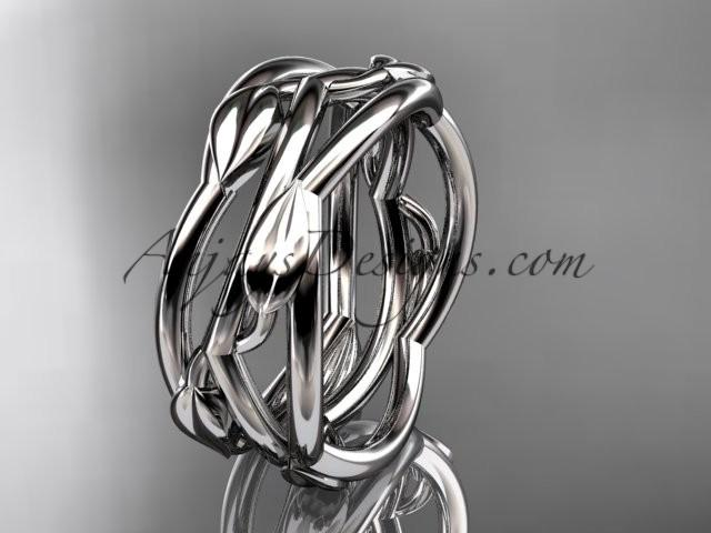 Mariage - platinum leaf and vine wedding ring,wedding band ADLR350G