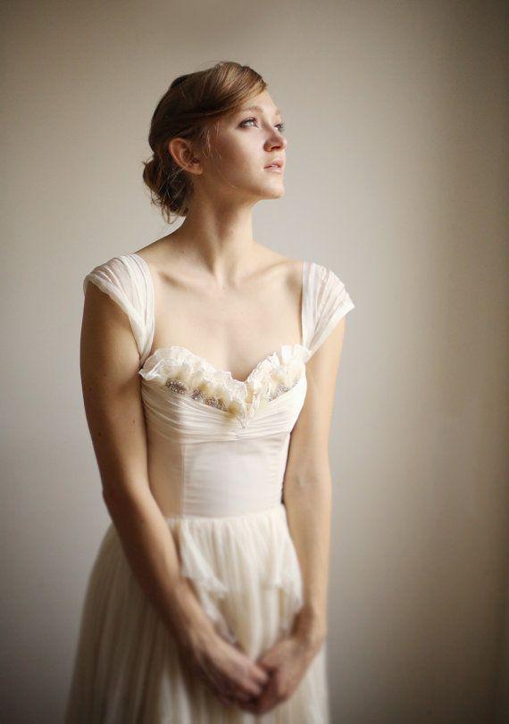 Wedding - Alice- Silk Chiffon Wedding Gown
