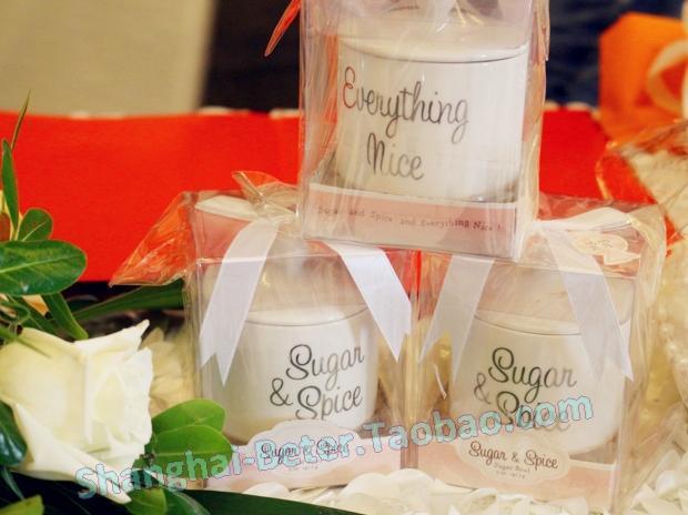 Hochzeit - Porcelain Sugar Can Favor TC016 Bridal Shower Gifts