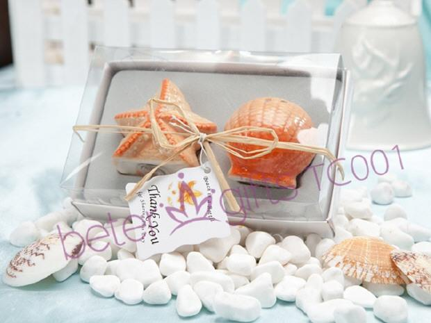 Boda - 100box Seashell and Starfish Salt and Pepper Shakers TC001