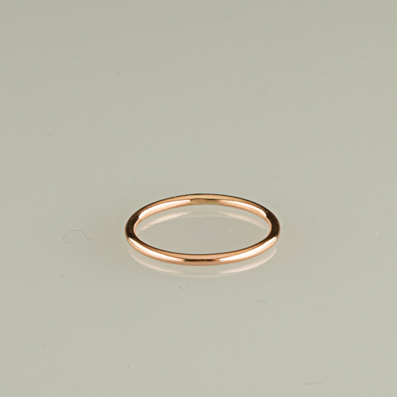 ONE Ring 10kt Solid Gold Rose Gold Yellow Gold White Gold 18g