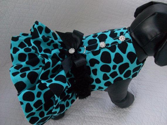 Свадьба - Leopard  Dog Dress Custom Made