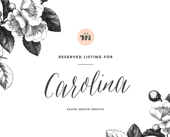زفاف - Reserved Listing for Carolina
