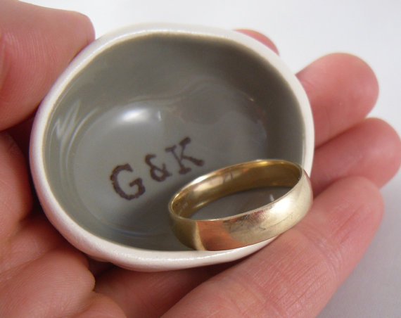 Custom Ring Dish Handmade For Ring Bearer To Use As Wedding