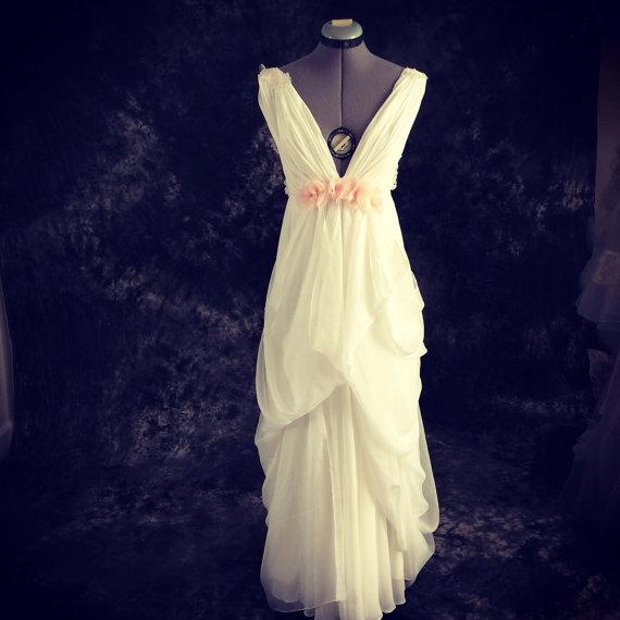 Long Beach Island Wedding Dress- Custom Wedding Gown-lace And ...