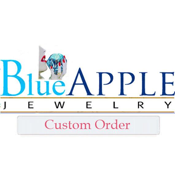 Свадьба - Blue Apple Jewelry Custom Order for terri caton.  Setting stone, stud earrings, shipping.