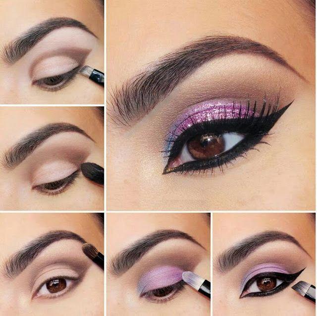 Свадьба - Sparkly Purple Eye Shadow Tutorial